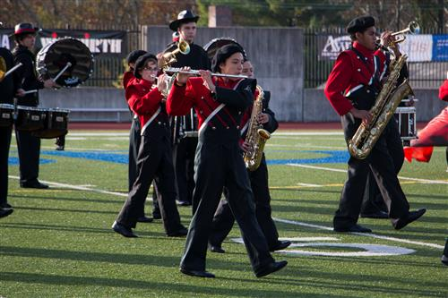 The PLHS Cardinal Marching Band
